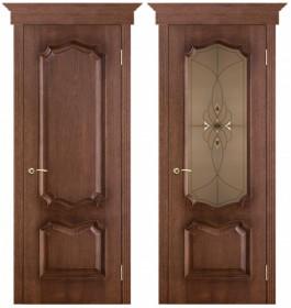 Дверь Премьера патина голд (Бронза с фацетами)