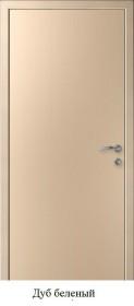 Дверь Гладкая ПВХ беленый дуб
