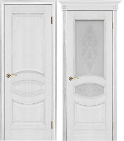 Дверь Ницца серебряная патина