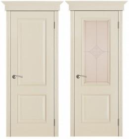 Дверь Версаль ваниль патина (Ромб)