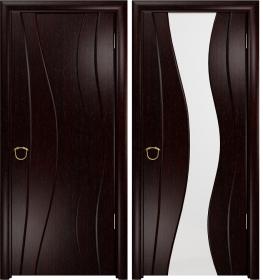 Дверь Корса венге белый триплекс
