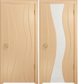 Дверь Корса беленый дуб белый триплекс