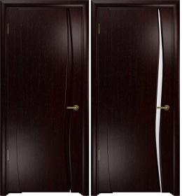 Дверь Вэла 1 венге белый триплекс