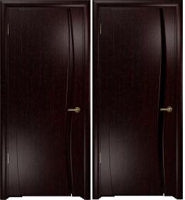 Дверь Вэла 1 венге черный триплекс