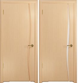 Дверь Вэла 1 беленый дуб белый триплекс