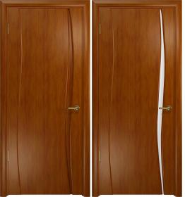 Дверь Вэла 1 темный анегри белый триплекс