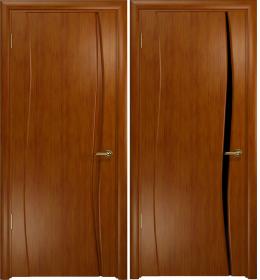 Дверь Вэла 1 темный анегри черный триплекс
