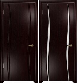 Дверь Вэла 2 венге белый триплекс