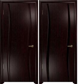 Дверь Вэла 2 венге черный триплекс