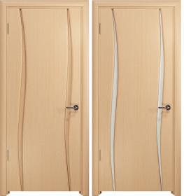Дверь Вэла 2 беленый дуб белый триплекс