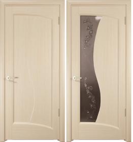 Дверь Смеральда беленый дуб