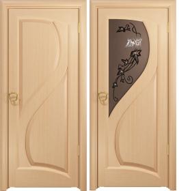 Дверь Скорциа беленый дуб тонированное
