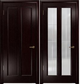 Дверь Эсиль 2 венге гравировка