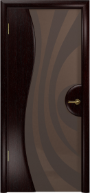 Дверь Ветра 1 венге тонированный триплекс с рисунком
