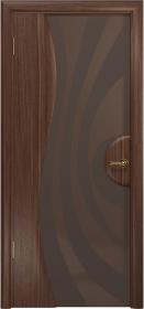 Дверь Ветра 1 американский орех тонированный триплекс с рисунком