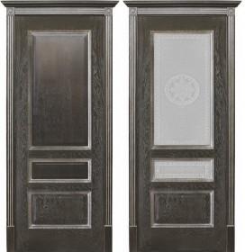 Дверь Вена чёрная патина (Версачи)