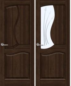 Дверь Верона темный орех