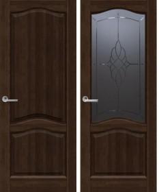 Дверь Лео темный орех