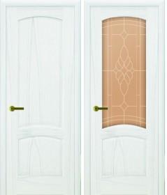 Дверь Лаура Lux дуб белая эмаль