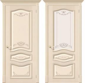 Дверь Леона Деко ваниль (Д-15)