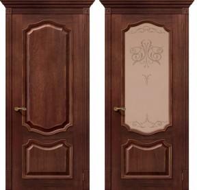 Дверь Премьера дуб голд (Вензель Д-25)