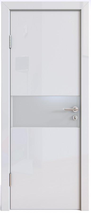 Дверь экошпон Модерн ДО-501 белый глянец