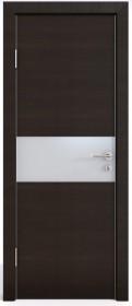 Дверь Модерн ДО-501 венге горизонтальный (стекло белое)