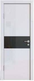 Дверь Модерн ДО-501 белый глянец (стекло черное)