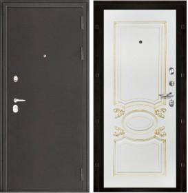 Дверь Колизей Аристократ эмаль белая с патиной капучино