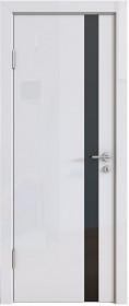 Дверь Модерн ДО-507 белый глянец (стекло черное)