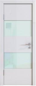 Дверь Модерн ДО-508 белый глянец (стекло белое)