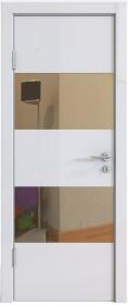 Дверь Модерн ДО-508 белый глянец (зеркало бронза)
