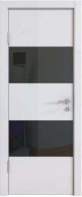 Дверь Модерн ДО-508 белый глянец (стекло черное)
