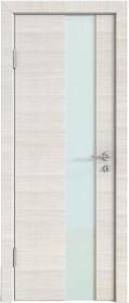 Дверь Модерн ДО-504 ива светлая (стекло белое)