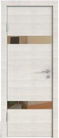 Дверь Модерн ДО-502 ива светлая (зеркало бронза)