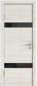 Дверь Модерн ДО-502 ива светлая (стекло черное)