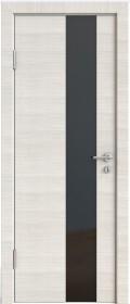 Дверь Модерн ДО-504 ива светлая (стекло черное)