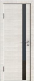 Дверь Модерн ДО-507 ива светлая (стекло черное)