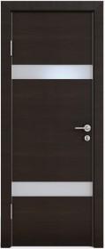 Дверь Модерн ДО-502 венге горизонтальный (стекло белое)