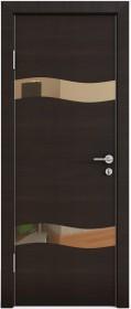 Дверь Модерн ДО-503 венге горизонтальный (зеркало бронза)