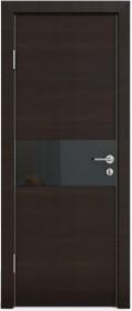 Дверь Модерн ДО-501 венге горизонтальный (стекло черное)