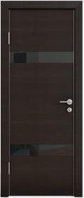 Дверь Модерн ДО-502 венге горизонтальный (стекло черное)