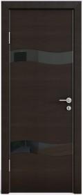 Дверь Модерн ДО-503 венге горизонтальный (стекло черное)