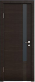 Дверь Модерн ДО-507 венге горизонтальный (стекло черное)