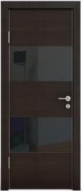 Дверь Модерн ДО-508 венге горизонтальный (стекло черное)