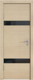 Дверь Модерн ДО-502 неаполь (стекло черное)