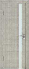 Дверь Модерн ДО-507 дуб серый (стекло белое)