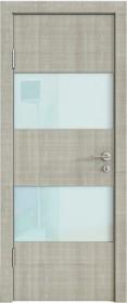 Дверь Модерн ДО-508 дуб серый (стекло белое)
