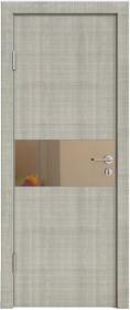 Дверь Модерн ДО-501 дуб серый (зеркало бронза)