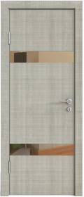 Дверь Модерн ДО-502 дуб серый (зеркало бронза)